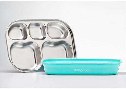 Kangovou Compartment Plate in Iced Mint