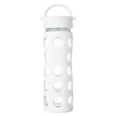 Lifefactory 16 oz / 475 ml Glass Bottle in Optic White