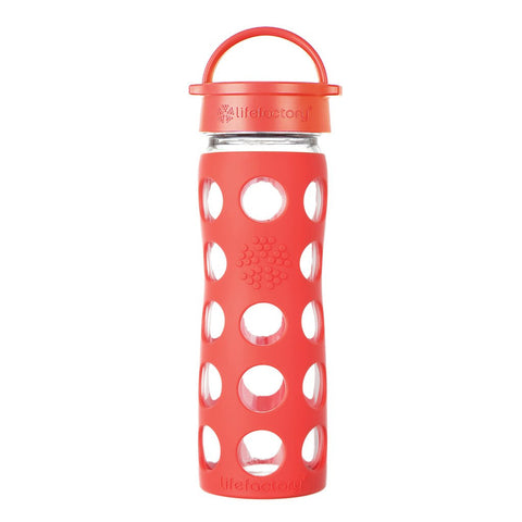 Lifefactory 16 oz / 475 ml Glass Bottle in Poppy