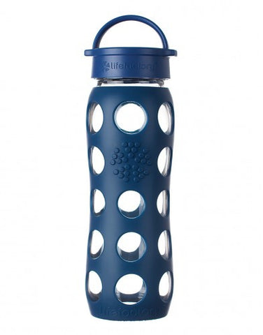 Lifefactory 22 oz / 650 ml Glass Bottle in Midnight Blue