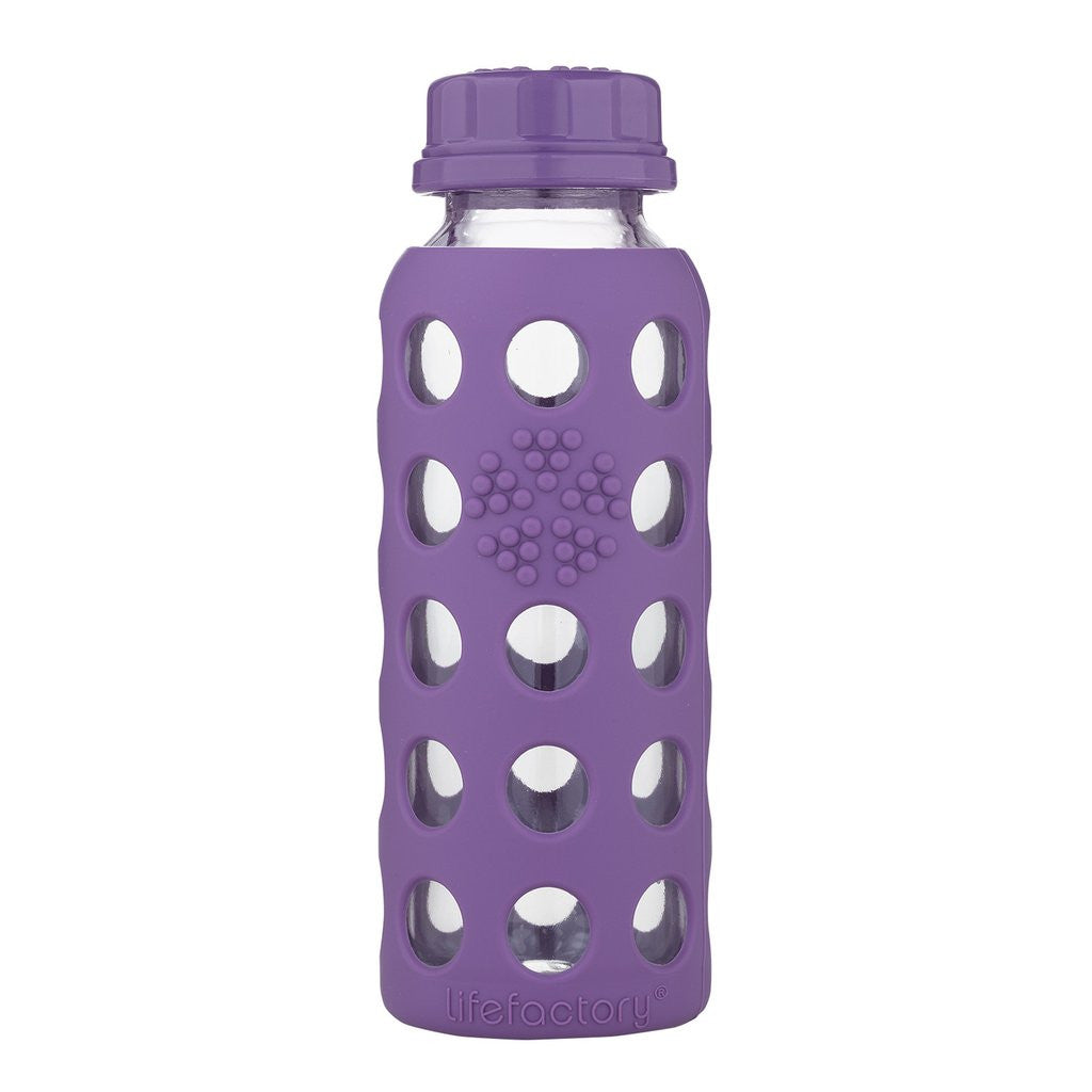 Lifefactory 9 oz / 250 ml Glass Bottle in Grape (Sold with flat cap)