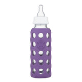 Lifefactory 9 oz / 250 ml Glass Baby Bottle in Grape (Sold with Stage 2 nipple)