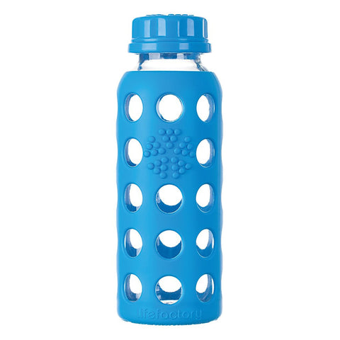 Lifefactory 9 oz / 250 ml Glass Bottle in Ocean (Sold with flat cap)