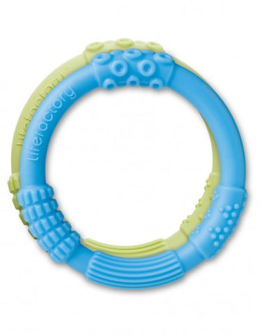 Lifefactory Silicone Teethers (Pack of 2) in Sky Blue/Spring Green