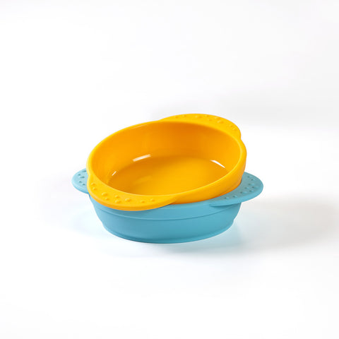 Kinderville Little Bites Bowls (Set of 2) in Blue/Orange