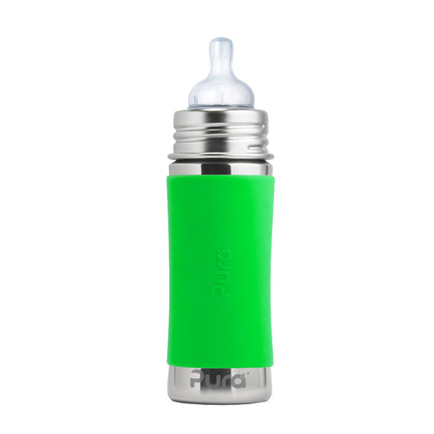 Pura Kiki 11 oz / 325 ml Infant Bottle with Green Sleeve