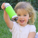 Pura Kiki 11 oz / 325 ml Toddler Sippy Bottle in Natural Stainless