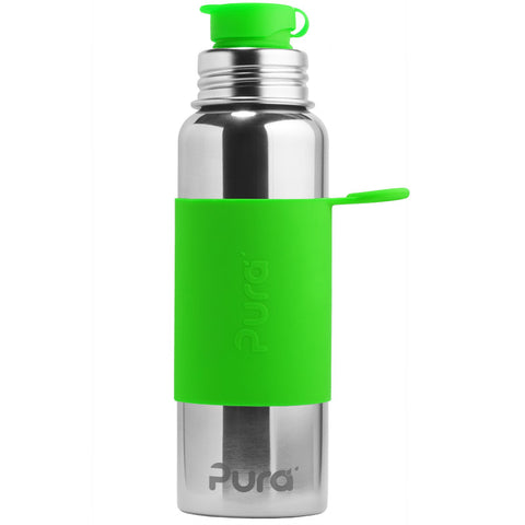 Pura Sport™ 28 oz / 828 ml Bottle with Green Sleeve
