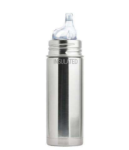 Pura Kiki 9 oz / 266 ml Insulated Toddler Sippy Bottle in Natural Stainless