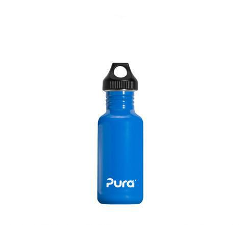 Pura 0.6L Stainless Steel Bottle in Blue