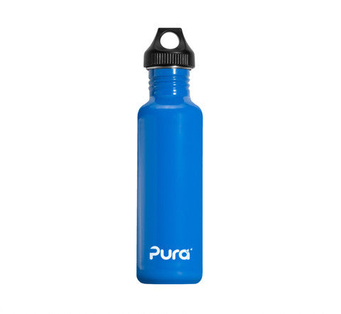 Pura 0.8L Stainless Steel Bottle in Blue
