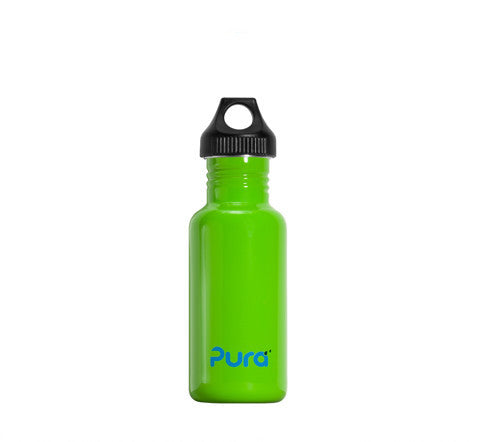 Pura 0.6L Stainless Steel Bottle in Green