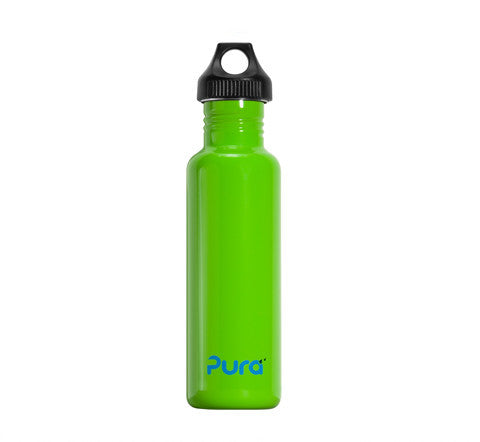 Pura 0.8L Stainless Steel Bottle in Green