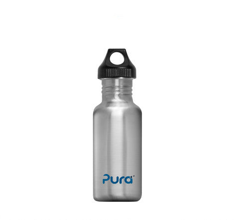 Pura 0.6L Stainless Steel Bottle in Natural Stainless