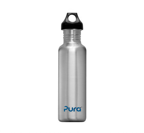 Pura 0.8L Stainless Steel Bottle in Natural Stainless
