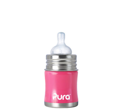 Pura Kiki 5 oz / 150 ml Infant Bottle in Pretty Pink