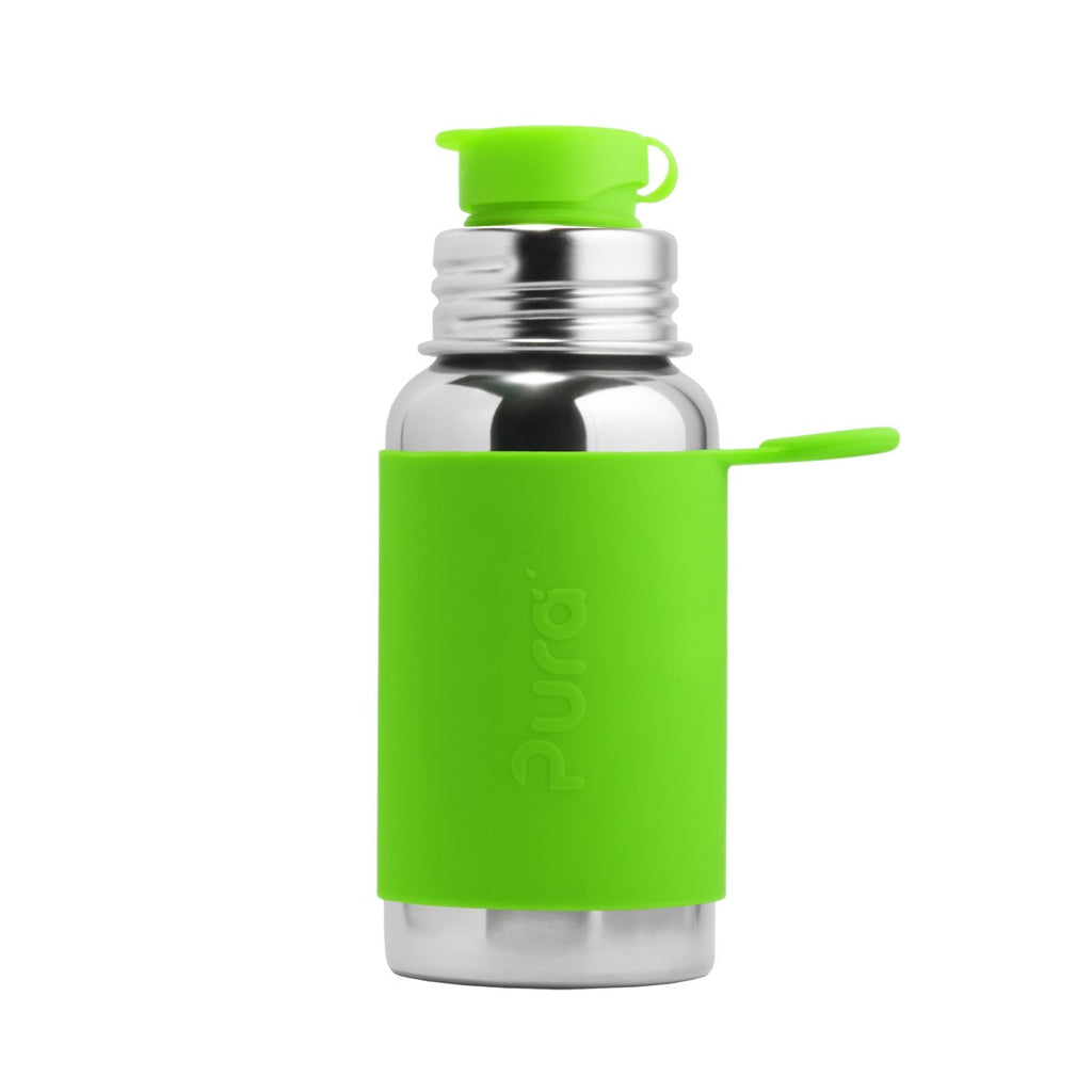 Pura Sport™ 18 oz / 532 ml Bottle with Green Sleeve