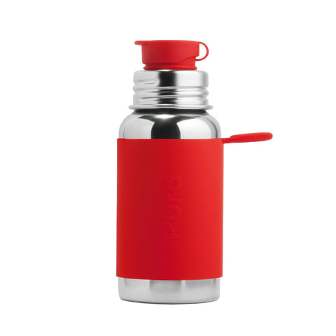 Pura Sport™ 18 oz / 532 ml Bottle with Red Sleeve