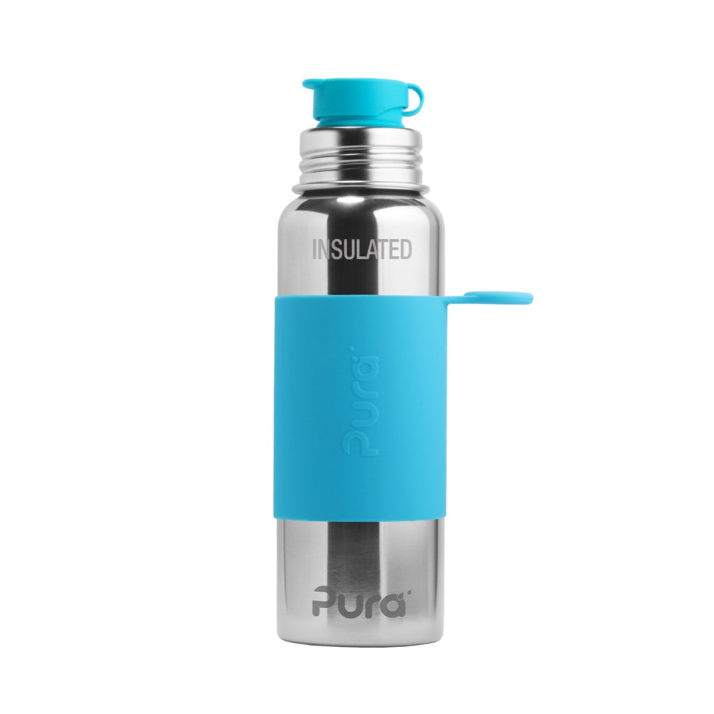 Pura Sport™ 22 oz / 651 ml Vacuum Insulated Bottle with Aqua Sleeve