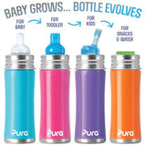 Pura Kiki 11 oz / 325 ml Toddler Sippy Bottle in Spring Green
