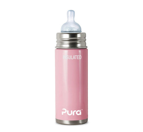 Pura Kiki 9 oz / 266 ml Insulated Infant Bottle in Cotton Candy