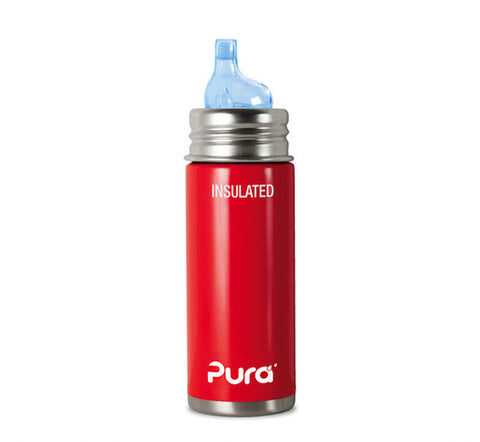 Pura Kiki 9 oz / 266 ml Insulated Toddler Sippy Bottle in Racing Red