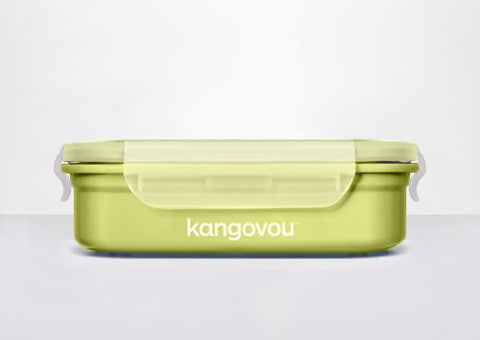 Kangovou Double Insulated Bento Box (Large) in Green