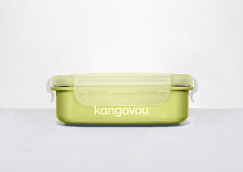 Kangovou Double Insulated Bento Box (Small) in Green