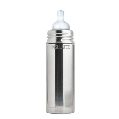 Pura Kiki 9 oz / 266 ml Insulated Infant Bottle in Natural Stainless