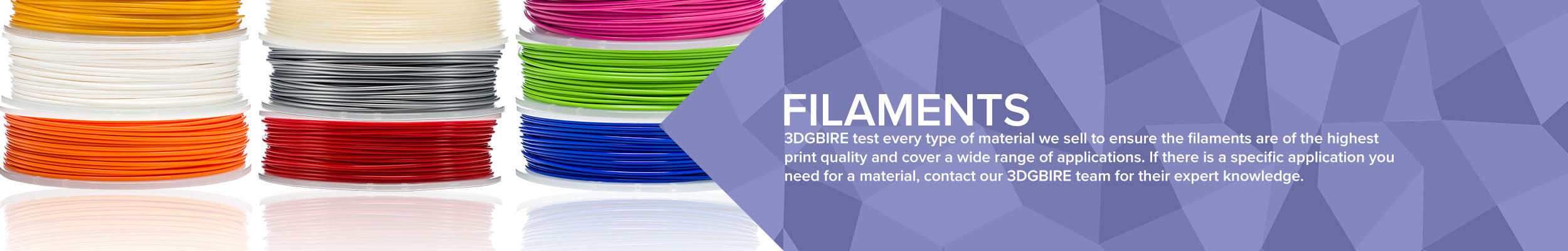 Large range of 3D Printer PLA Filament to ABS Filament in the UK | 3DGBIRE