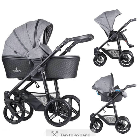 Venicci shadow denim grey 3 in 1