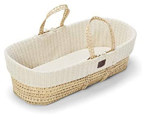 Little green sheep knitted Moses basket