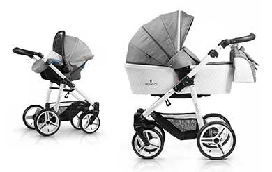 Venicci pure white 3in1 travel system