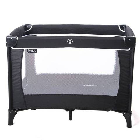 Redkite travel cot Black