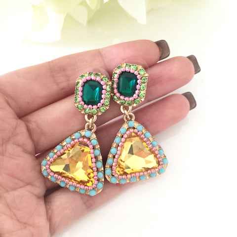"""Bahamas"" Dangle Jewel Earrings"