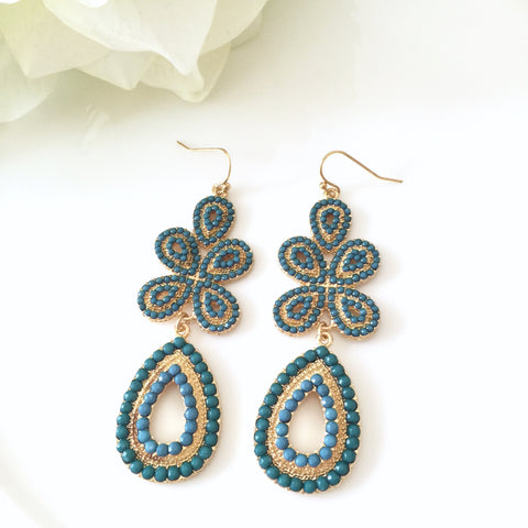 """Paisley"" Bohemian Dangle Hook Earrings"