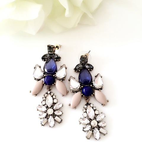 """Holly"" Chandelier Jewel Statement Earrings"