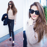 "Fuzzy Turtleneck Sweater in ""Camel"""