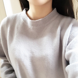 Oversized Mock Neck Boyfriend Sweater
