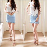 [More Colors] Fringe Hem Bodycon Skirt