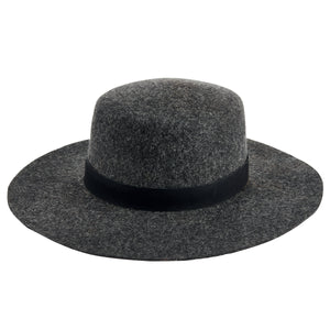 Wool Felt Wide Brim Boater by San Diego Hat Co.