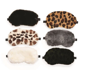 Faux Fur Eye Mask by Two's Company