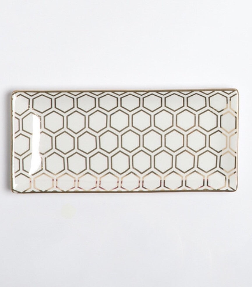 Rectangle Trinket Tray by 8 Oak Lane