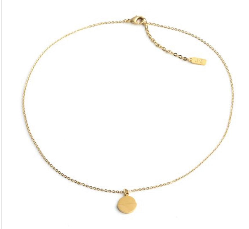Dipped Disc Necklace by Ervan J Necklace