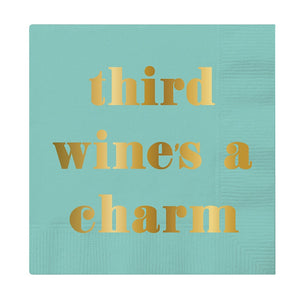 Third Wine's A Charm Napkin by Slant