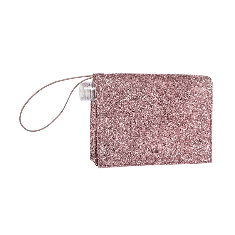 Flask Glitter Clutch by Slant