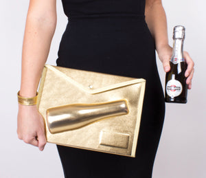 3D Champagne Pouch by 8 Oak Lane