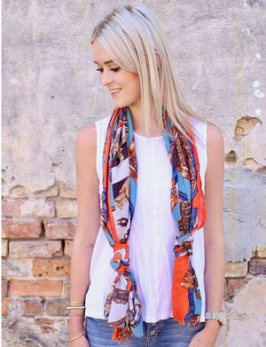 Mansfield printed Scarf by Caroline Hill