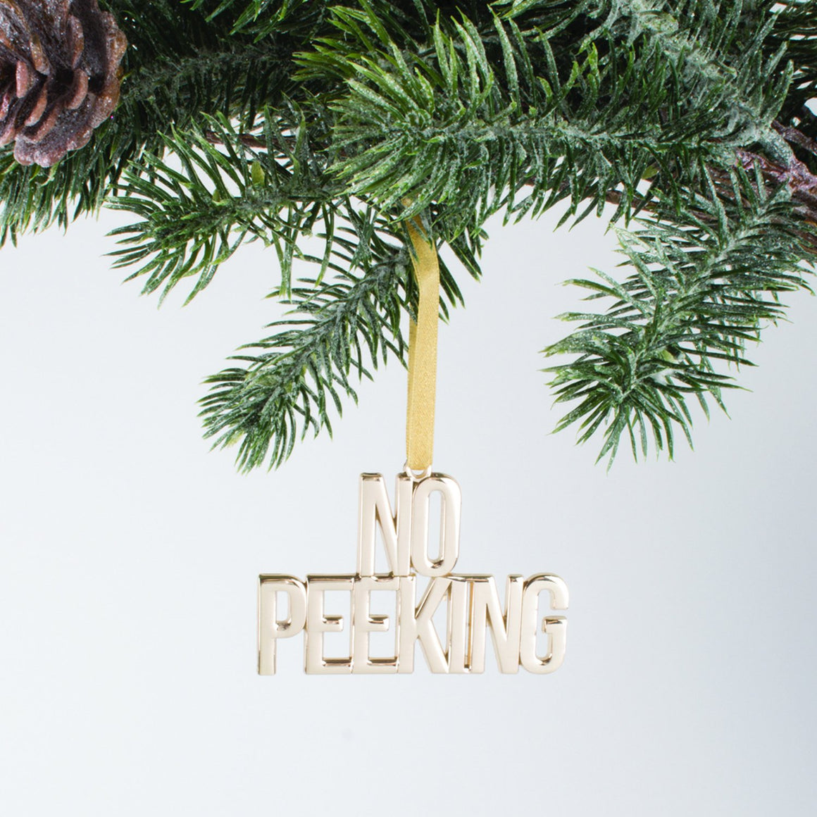 """No Peeking"" Gold Ornament by 8 Oak Lane"