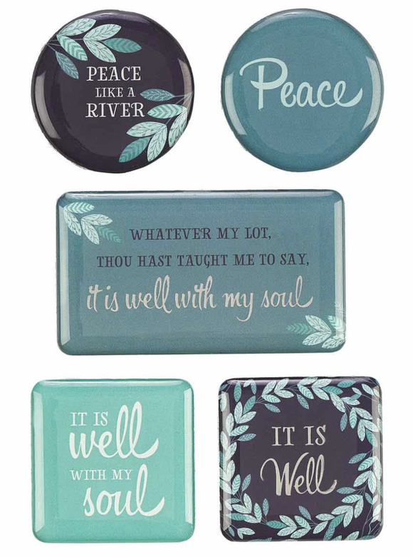 It Is Well Set of 5 Magnets